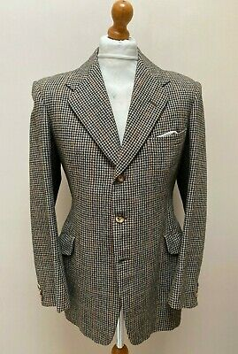 Vintage 1940's 1950's bespoke three button tweed suit size 38