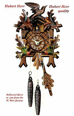 Hubert Herr,   new  Black Forest  mechanical cuckoo clock with moving birds.