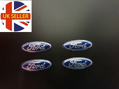 2 x 21mm FORD Replacement Key Fob Badge Sticker