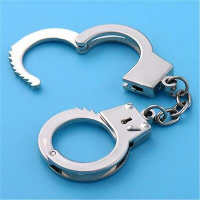 Handcuffs Split Metal Key Rings Keyring Blanks With Link Chains For DIY Craft