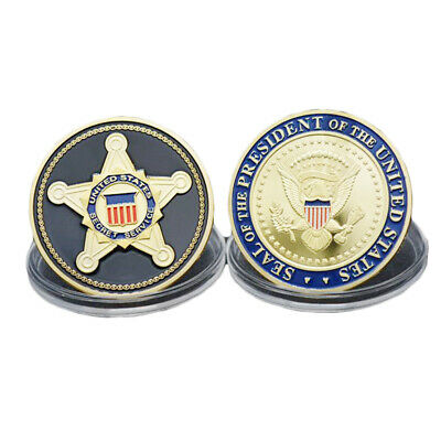 United States Secret Service USSS Seal of the US President Challenge Coin GOLD