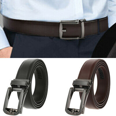 Genuine Leather Belt For Men Ratchet Belt Autonomic Belt Buckle Casual Business