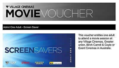 Village Event Greater Union Cinemas (E-Mail) Movie Voucher