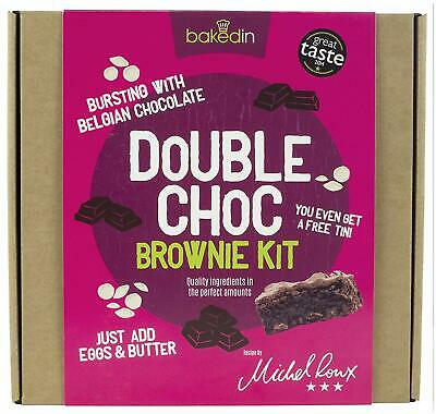 Chocolate Brownie Baking Kit Bakedin Easy Fun Home Made Dessert Kids Adults