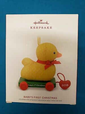 Hallmark Keepsake Ornament 2018  Baby's First Christmas  Duck  Nib Free Shipping