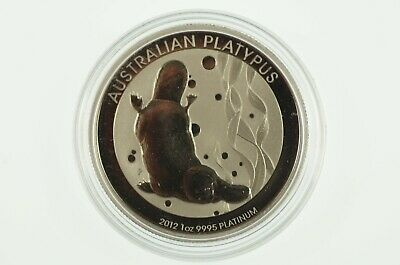 2012 1oz 9995 Platinum Australian Platypus $100 Uncirculated Coin