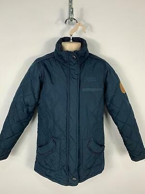 Girls Regatta Navy Blue Diamond Quilted Casual Coat Jacket Kids Age 7/8 Years