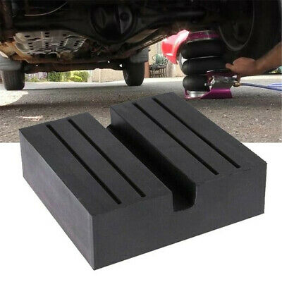 Square Car Universal Slotted Frame Rail Floor Jack Guard Adapter Lift Rubber Pad