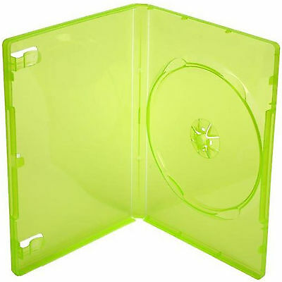 5 X XBOX 360 Replacement Game Cases Translucent Green - Pack of 5