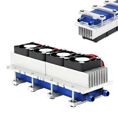 12V 288W 4-Chip TEC1-12706 DIY Thermoelectric Peltier Cooler Air Cooling Device