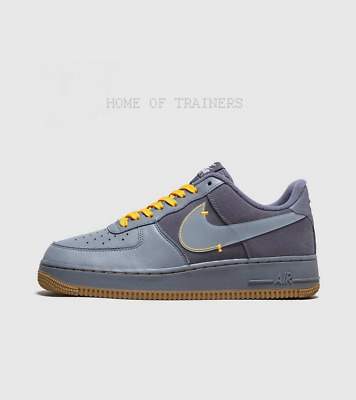 NIKE AIR FORCE 1 Premium Blue Men's Trainers All Sizes EUR