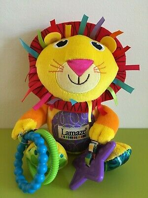 LAMAZE Logan the Lion hanging toy. Lamaze Lion.