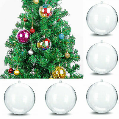 20/50/100Pcs Clear Balls  Star Fillable Baubles Sphere Craft For Christmas Tree