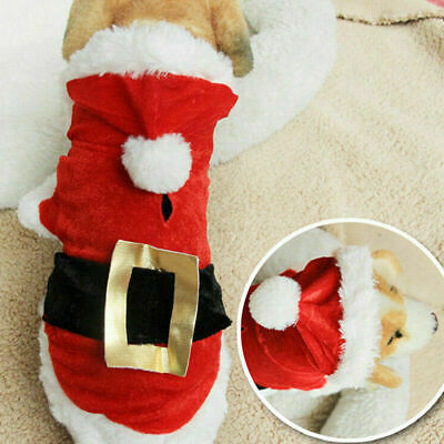 Christmas Xmas Pet Dog Puppy Hoodie Sweater Jacket Jumper Clothes Costume Sets