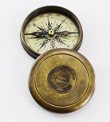 Robert Frost Poem Antiques Brass Compass Vintage Gift for All Occasion