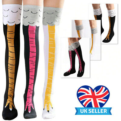 Chicken Leg Socks Funny Crazy Sock Day Long Knee Thigh High Over Above Knees