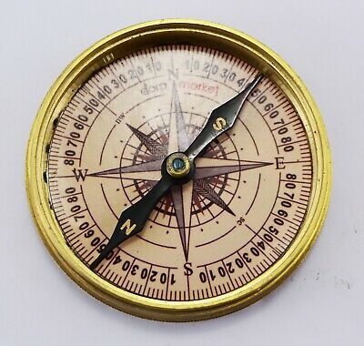 Compass Robert Frost Poem Antiques Brass Vintage Gift for All Occasion