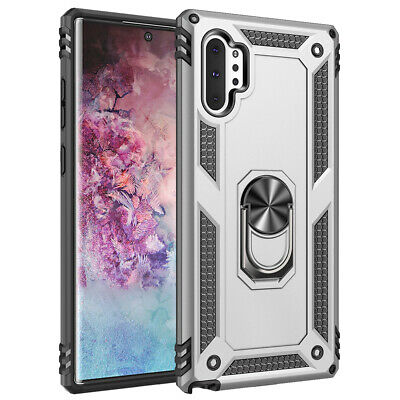 For Samsung Galaxy Note 10 Plus 5G Military Armor Case Magnetic Ring Stand Cover