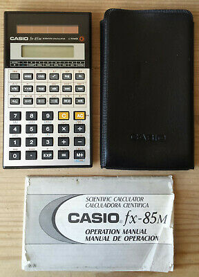 Vintage Casio fx-85m Solar Power Scientific Calculator Fully Working With Manual