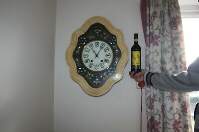 vintage    French Oeil de Boeuf Wall Clock. repeater... with Pendulum G.W.O