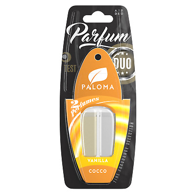 Paloma Duo Car Air Freshener Fragrance Vanilla Cocco Smell Hanging Scent 60 Days
