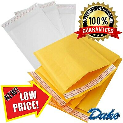 Gold & White Quality Padded Bubble Envelopes Bags *All Sizes/Qty's* - Top Prices