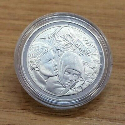 2003 New Zealand Lord of the Rings Flight to Ford 1 oz 925 Silver Proof $1 Coin