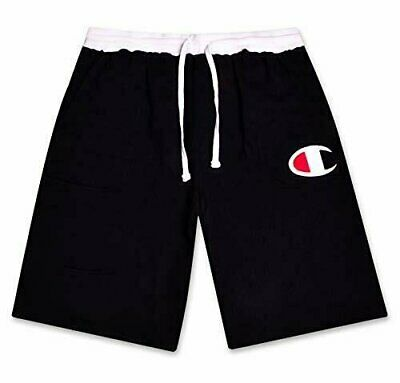 Champion Mens Big and Tall Cotton Jersey Active Shorts with Embroidred Logo