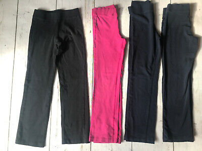 Primary Everyday Leggings Lot Girls Size 7 Pink Blue Black