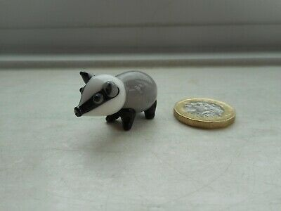 Badger - Glass -  Beautiful Detailed Badger Miniature Collectable Figurine