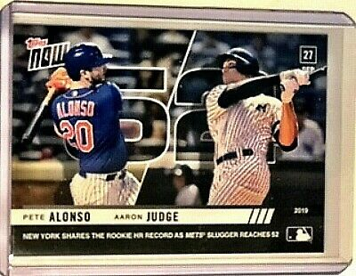 Pete Alonso New York Mets Aaron Judge Yankees 2019 Topps NOW 906 9.27.19 NY RC