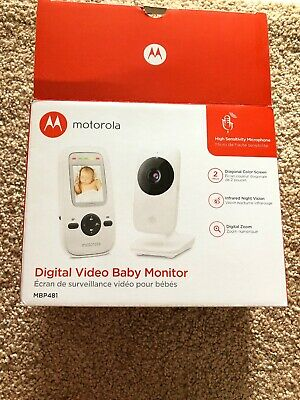 Motorola Digital Video Baby Monitor 2.4 GHz 2 Inch Color Display MBP481