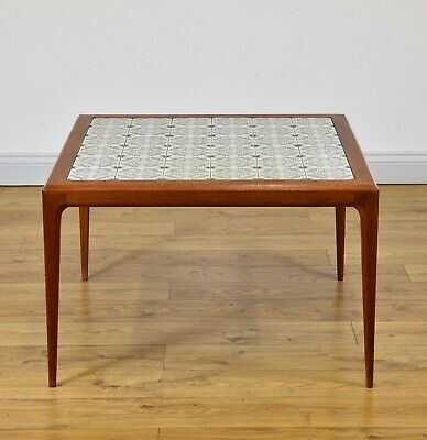 MID-CENTURY DANISH TEAK COFFEE TABLE by JOHANNES ANDERSON for CFC Silkeborg