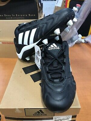 NIB Adidas Men's Grid Iron Lo Cleated Football Shoes Black R White Size 9.5 NEW