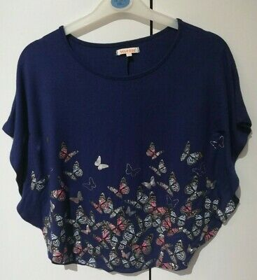 Girls Debenhams Blue Zoo Poncho Style Top 9-10 Years Pre-owned