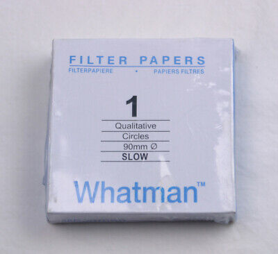 FILTER PAPER 9 cm 100 DISCS QUALITATIVE SLOW 103