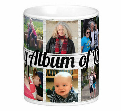 Personalised 10 Photo Collage Mug Add Text Mother Father Gift Tea Coffee Cup
