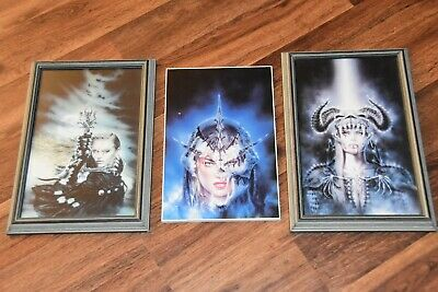 Lot 3 Women Fantasy Pictures Room Wall Art poster print skull warrior princess