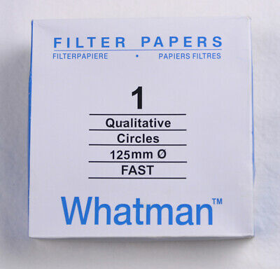 FILTER PAPER 12.5 cm 100 DISCS QUALITATIVE FAST 101