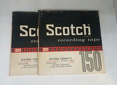 "Scotch Recording Tape 150 3m 7"" Reels lot #4"