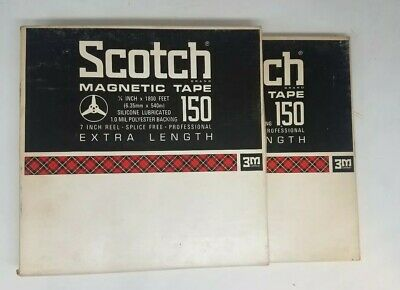 Scotch Magnetic Tape 150 7 In Reel Extra Length lot  #5