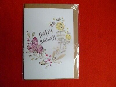 Happy Holidays Eco Friendly Aust Designer Doris Chang  Greeting Card Unused