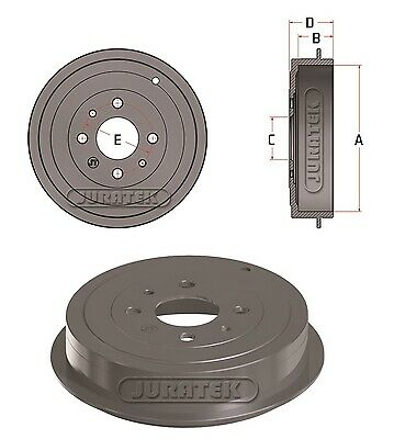 REAR BRAKE DRUMS SHOES 2x CYLINDERS for FIAT PANDA 169 1.1 1.2 1.3D 1.4 2003-/>