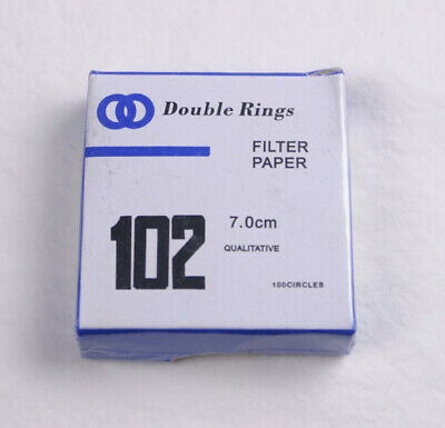 FILTER PAPER 7 cm 100 DISCS QUALITATIVE Medium 102