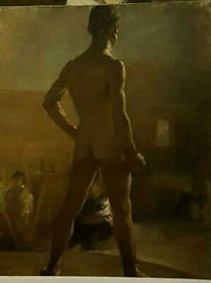 Late 19Th Century French Academy Study Of A Male Nude