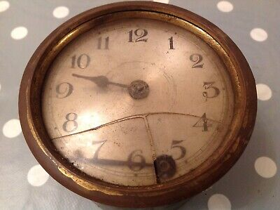 Antique Barrel Clock Movement for Restoration To Fit 95mm Hole Untested Parts