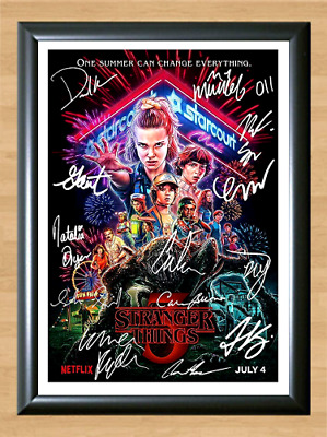 Stranger Things Cast Signed Autographed A4 Photo Poster Memorabilia tv show dvd
