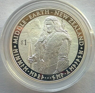 New Zealand 2012 King Ring Middle Earth Dollar 1oz Silver Coins,Proof-B