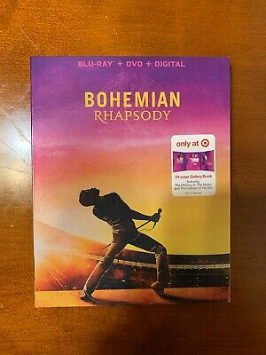 Bohemian Rhapsody Blu Ray / Dvd / Digital Target Gallery Book Brand New Queen