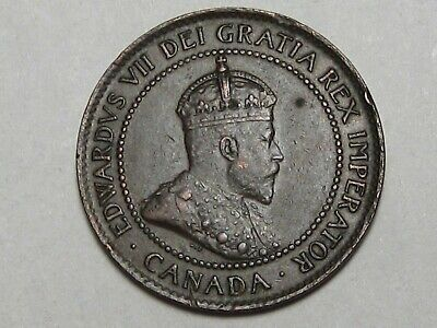 High-Grade 1902 Canadian Large Cent Coin (w/ Full Crown): Edward VII. CANADA. #8